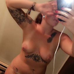 Bored And Frisky - Big Tits, Amateur, Body Piercings, Tattoos
