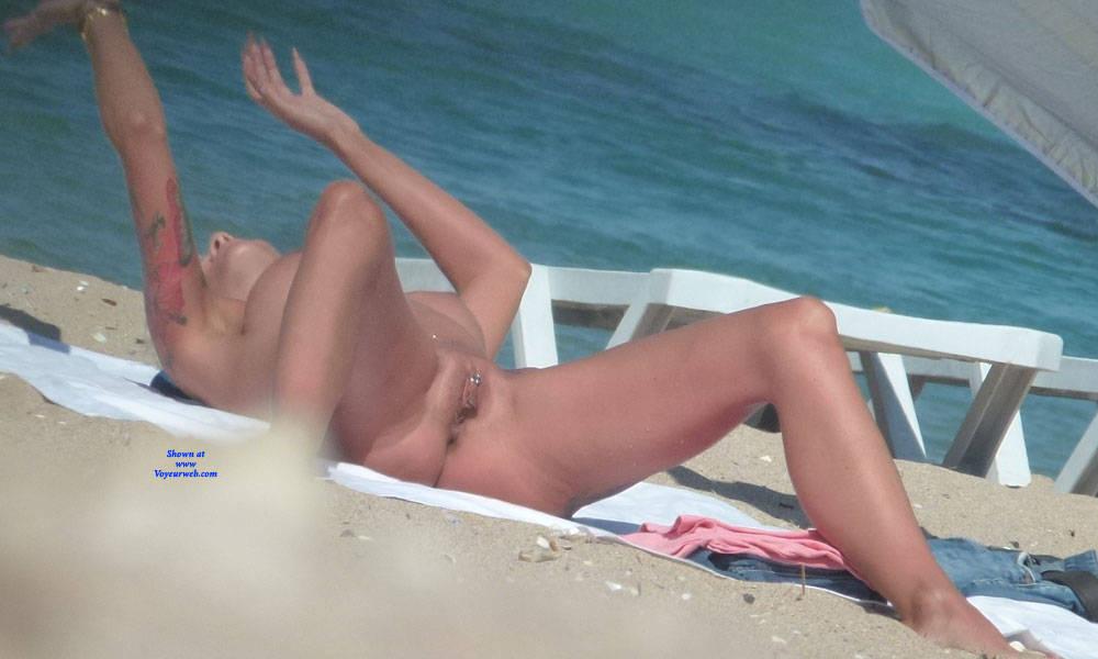 Pic #8 Tattooed Nude Mermaid - Nude Girls, Beach, Big Tits, Blonde, Outdoors, Shaved, Tattoos, Beach Voyeur