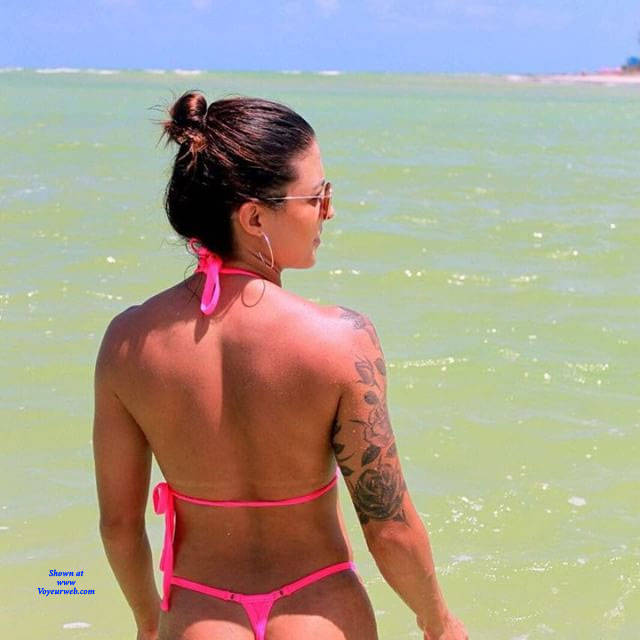 Pic #2 Brasileiras Exibidas Com Seus Bikini - Beach, Brunette, Outdoors, Bikini Voyeur, Firm Ass, Tattoos, Beach Voyeur