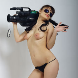 Topless Camerawoman  - Big Tits, Brunette Hair, Natural Tits, Showing Tits, Small Breasts, Small Tits, Sunglasses, Topless Girl, Topless, Hot Girl, Naked Girl, Sexy Body, Sexy Face, Sexy Feet, Sexy Figure, Sexy Girl, Sexy Panties, Amateur