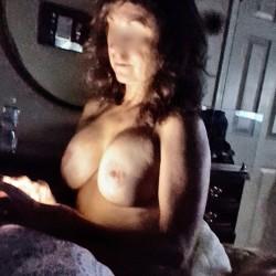 Very large tits of my wife - Kristi