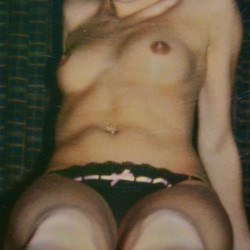 Very small tits of my girlfriend - poloroid salvage