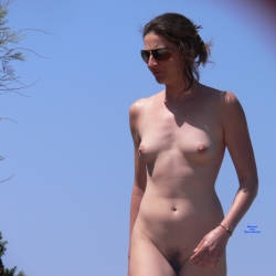 Pic #6 We All Love The Nude Beach - Nude Girls, Brunette, Outdoors, Beach Voyeur