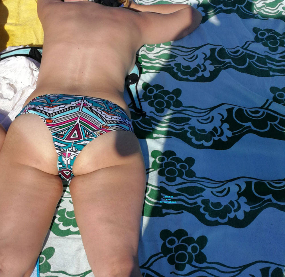 Pic #2 After Beach - Pantieless Wives, Outdoors, See Through, Shaved, Amateur