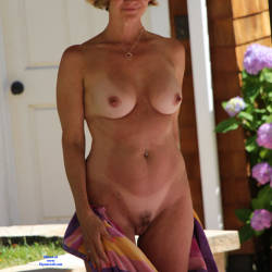 Pic #6 Just Another Nice Day In The Sun - Nude Wives, Big Tits, Outdoors, Bush Or Hairy, Amateur
