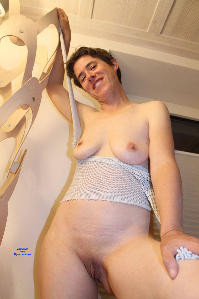 Pic #9 Sexy Fishnet - Big Tits, Brunette, See Through, Amateur