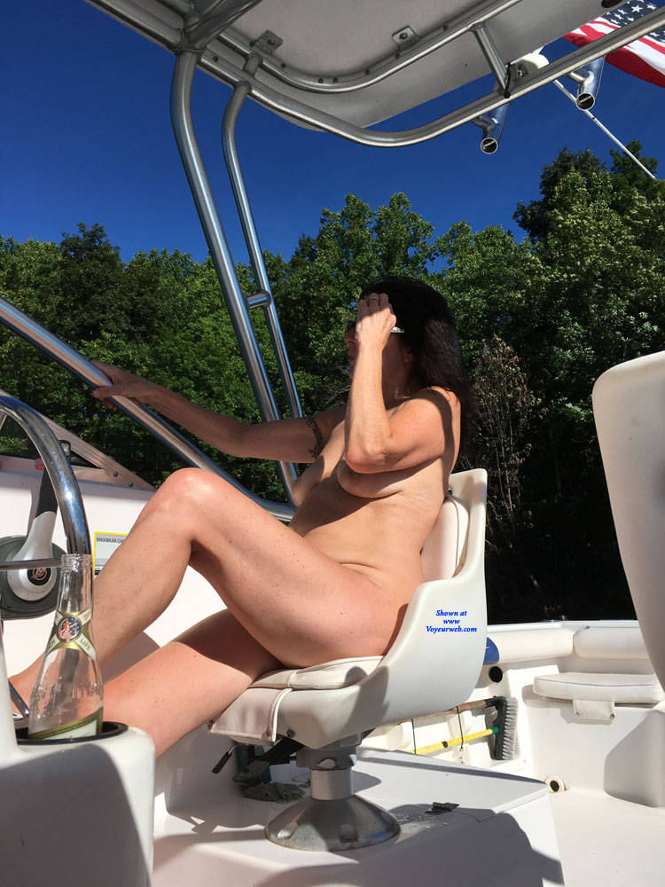 Pic #8 Naked Gun On The Lake - NC  - Nude Girls, Big Tits, Brunette, Outdoors, Amateur