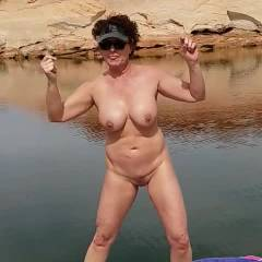 Promenade On The Boat - Nude Wives, Big Tits, Brunette, Outdoors, Amateur
