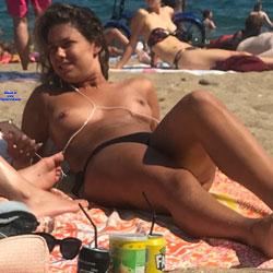 The Three Musketeers Of Barcelona - Topless Girls, Beach, Outdoors, Beach Voyeur