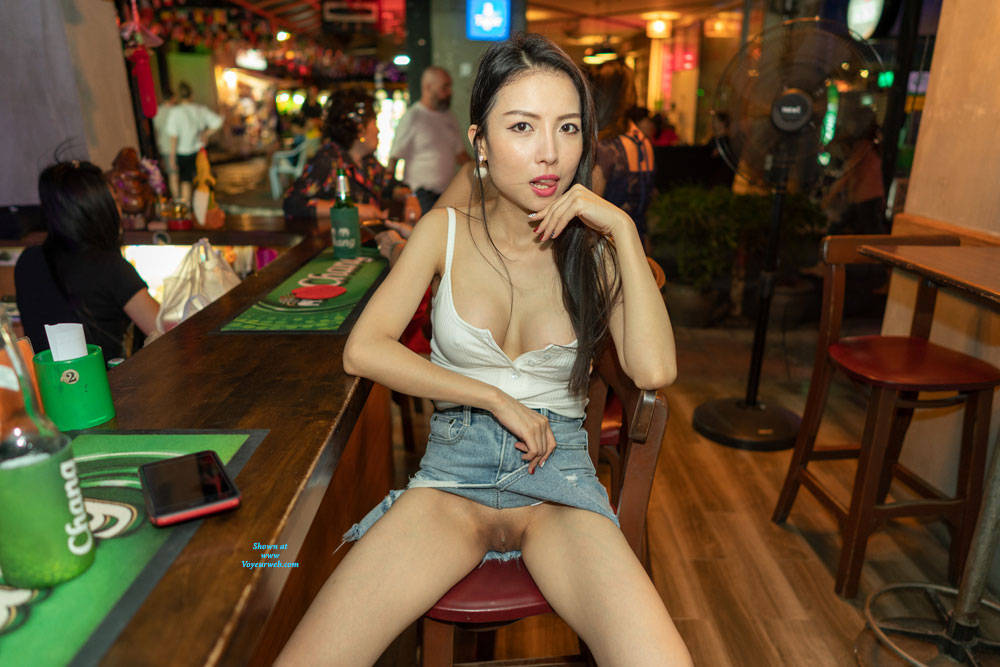 Flashing Naughty In A Bar - Asian Girl, Brunette Hair, Exposed In Public, Flashing, Shaved Pussy, Showing Tits, Skirt, Hot Girl, Pussy Flash, Sexy Body, Sexy Face, Sexy Figure, Sexy Girl, Sexy Legs, Sexy Woman , Bar, Nude, Mini Skirt, No Bra, Cleavage, Flashing, Shaved Pussy