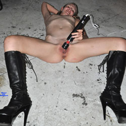 My Boots And My Vibrator - Blonde Hair, Boots, Masturbation, Nipples, Shaved Pussy, Showing Tits, Small Tits, Trimmed Pussy, Hot Girl, Naked Girl, Sexy Body, Sexy Face, Sexy Feet, Sexy Figure, Sexy Girl, Sexy Legs, Cumshot, Toys, Amateur