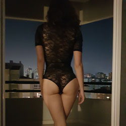 Hotwife At Balcony - Wives In Lingerie, Outdoors, Amateur