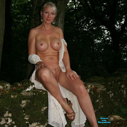 A Walk In The Woods Near Bristol - Big Tits, Blonde, Mature, Outdoors, Amateur
