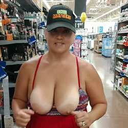 Walmart Shopping Fun - Pantieless Girls, Big Tits, Public Exhibitionist, Flashing, Public Place, Amateur