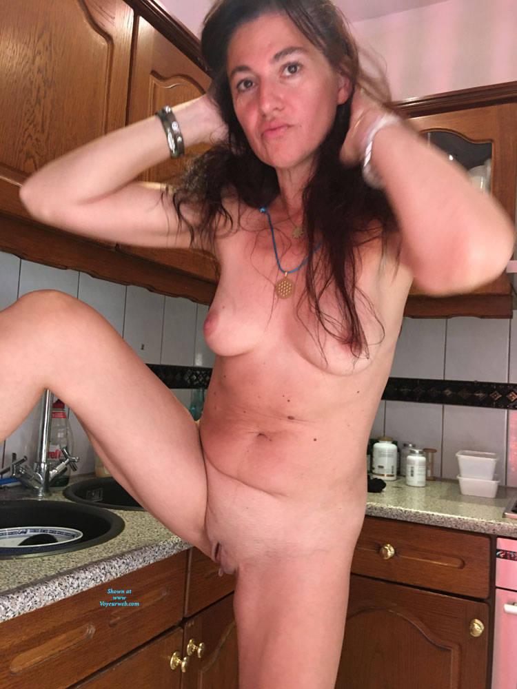 Pic #3 Naked Evening - Nude Girls, Brunette, Shaved, Amateur