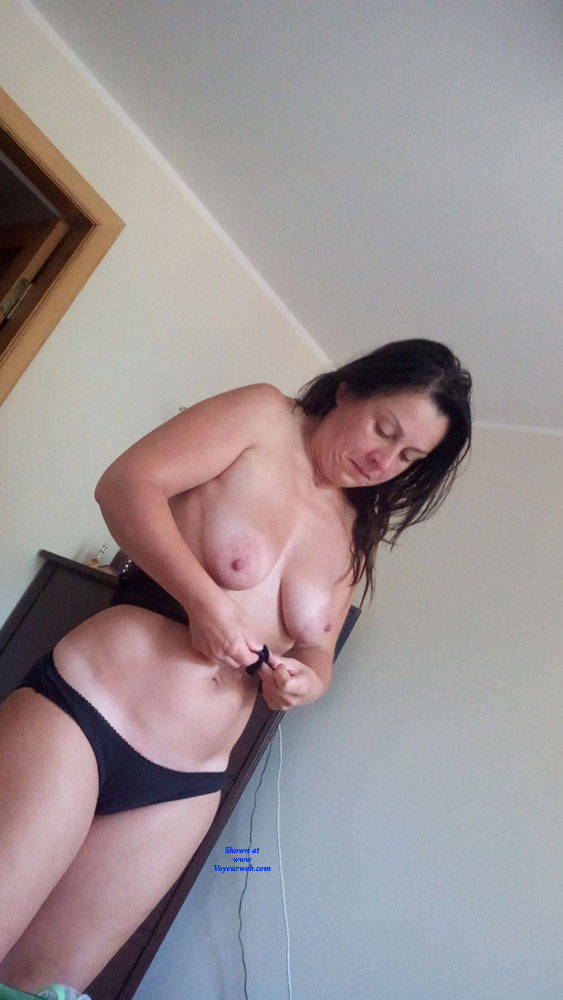 Pic #4 Dressing - Topless Wives, Big Tits, Brunette, Amateur