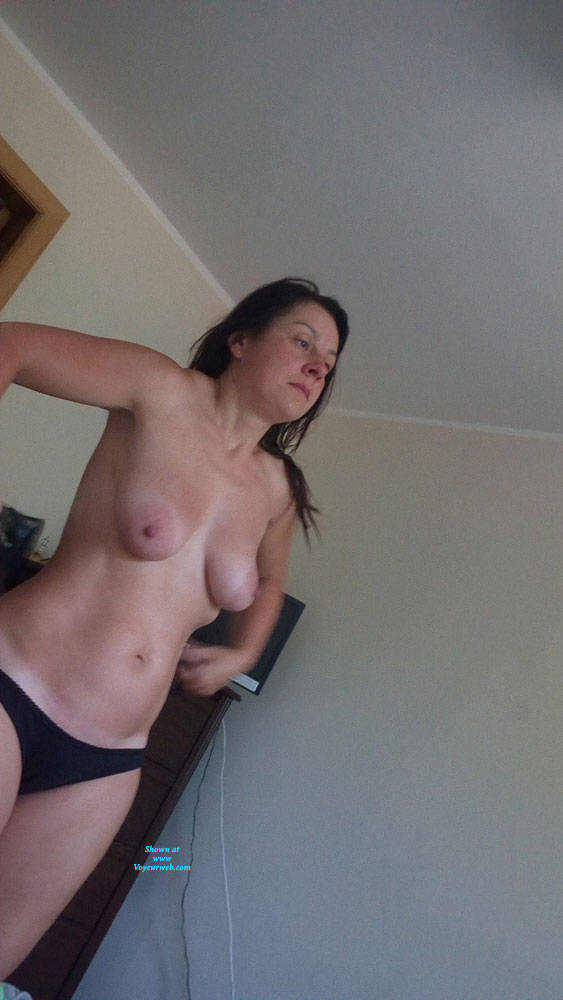 Pic #2 Dressing - Topless Wives, Big Tits, Brunette, Amateur