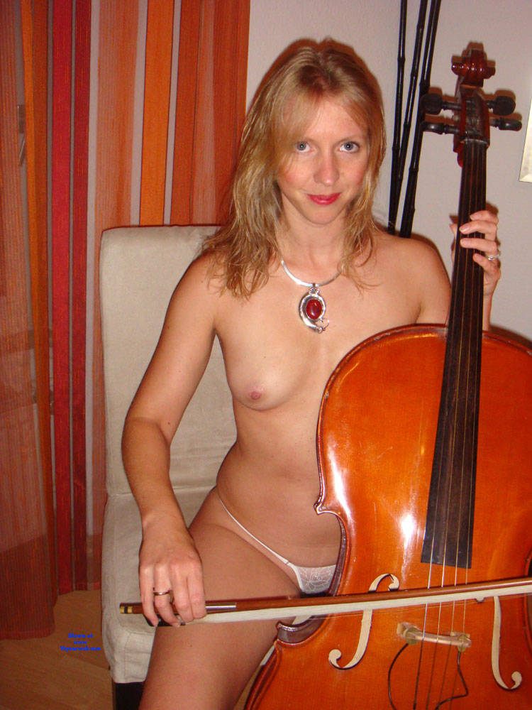 Pic #1 Cello Playing - Nude Girls, Redhead, Amateur, Medium Tits