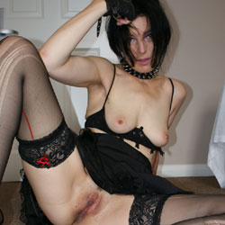 Milf In Black Stockings - Bra, Brunette Hair, Heels, Nipples, No Panties, Shaved Pussy, Showing Tits, Small Breasts, Small Tits, Stockings, Hot Girl, Sexy Ass, Sexy Body, Sexy Face, Sexy Figure, Sexy Girl, Sexy Legs, Face Sitting
