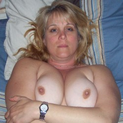 Large tits of my wife - Debbie
