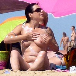 Miscellaneous French - Beach, Big Tits, Brunette, Outdoors, Beach Voyeur