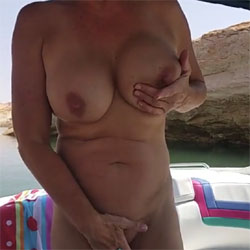 Cub Showing Off - Big Tits, Brunette, Mature, Outdoors, Amateur, Bush Or Hairy