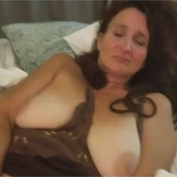 Getting Myself Off - Big Tits, Brunette, Amateur