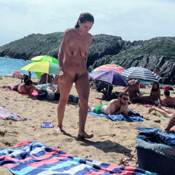 North Spanish Beach Women - Nude Girls, Beach, Brunette, Outdoors, Beach Voyeur