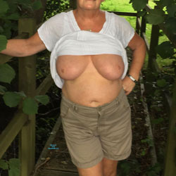 Country Walk - Big Tits, Outdoors, Amateur