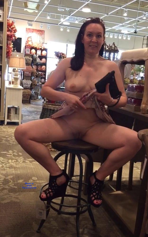 Wife tits in public