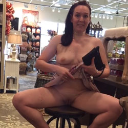 Wife Flashing In Public - Big Tits, Brunette, Public Exhibitionist, Flashing, Public Place, Shaved, Amateur, Wife/wives