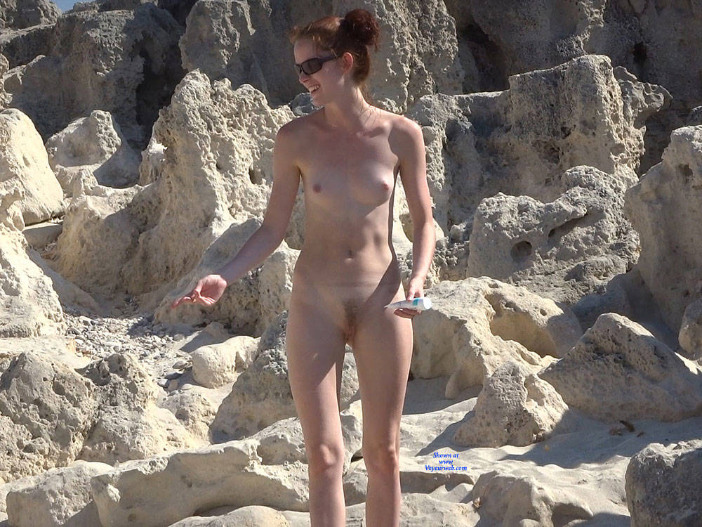 Pic #1 More From Twins - Nude Girls, Beach, Brunette, Outdoors, Small Tits, Bush Or Hairy, Beach Voyeur