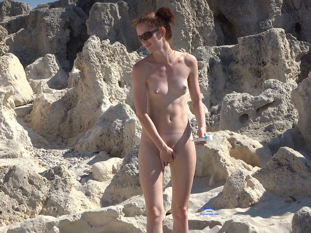 Pic #2 More From Twins - Nude Girls, Beach, Brunette, Outdoors, Small Tits, Bush Or Hairy, Beach Voyeur