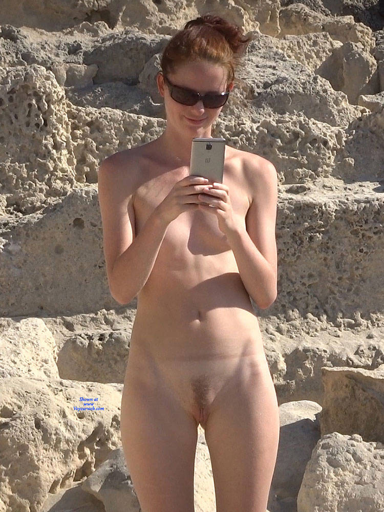 Pic #3 More From Twins - Nude Girls, Beach, Brunette, Outdoors, Small Tits, Bush Or Hairy, Beach Voyeur