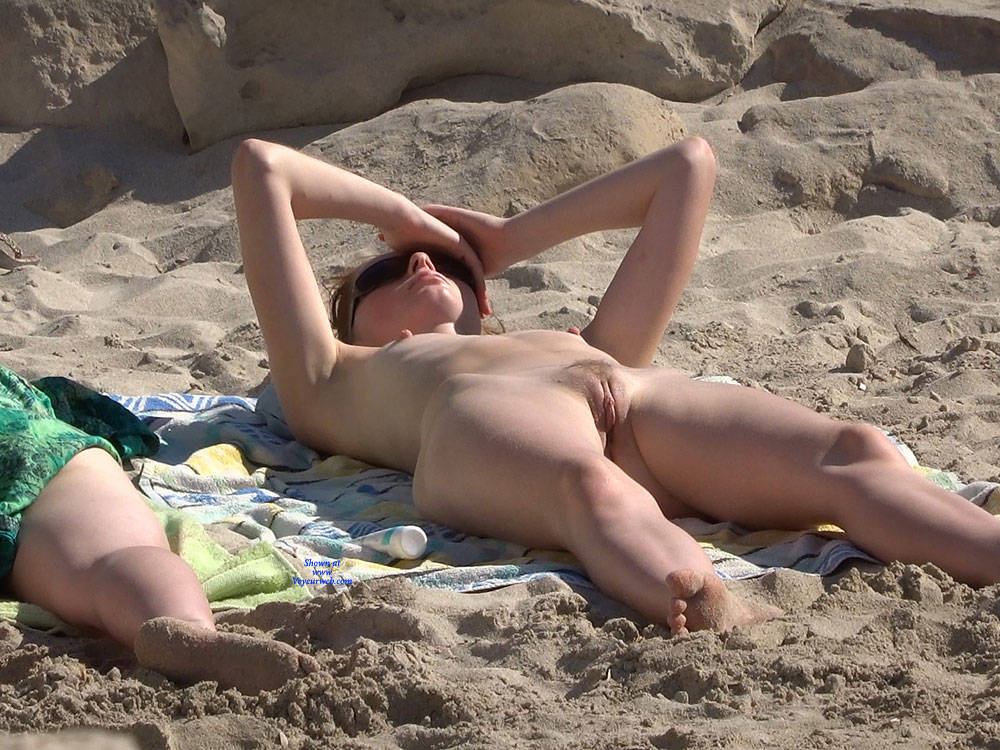 Pic #9 More From Twins - Nude Girls, Beach, Brunette, Outdoors, Small Tits, Bush Or Hairy, Beach Voyeur
