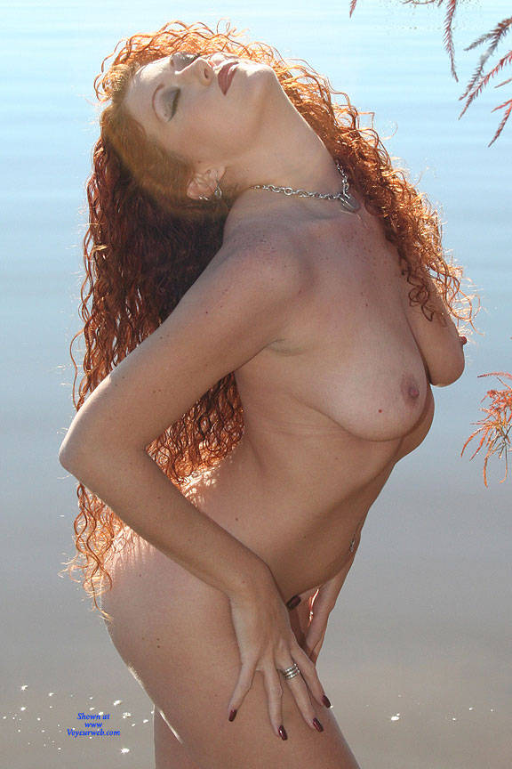Pic #1 Milf Shoreline Sun - Nude Girls, Big Tits, Mature, Outdoors, Redhead, Amateur