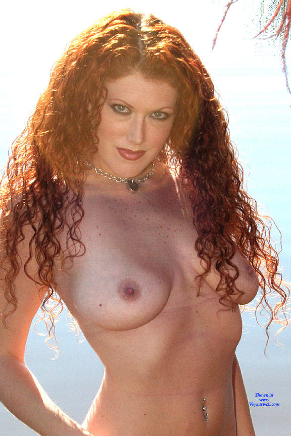 Pic #2 Milf Shoreline Sun - Nude Girls, Big Tits, Mature, Outdoors, Redhead, Amateur