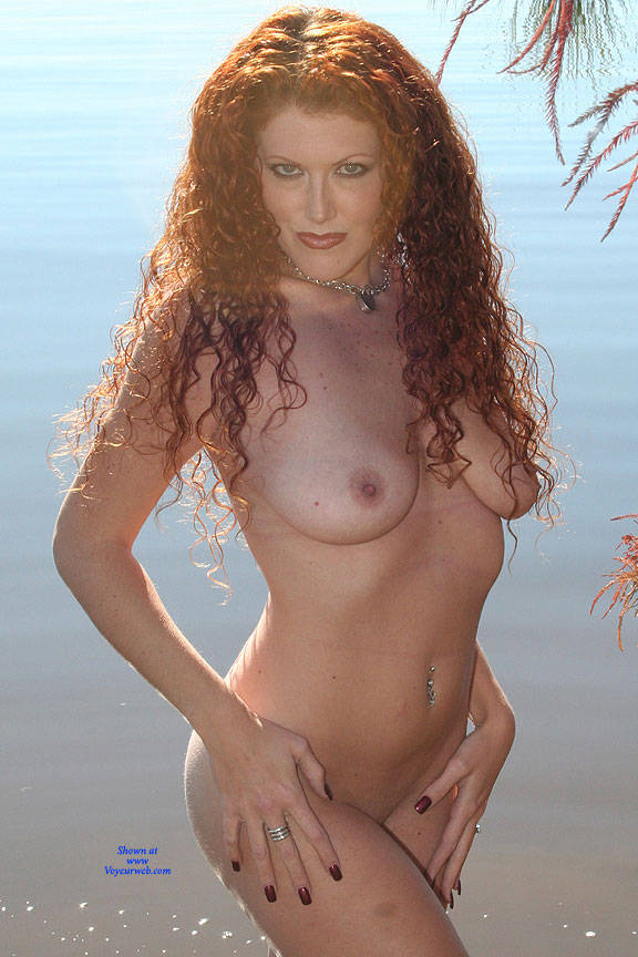 Pic #3 Milf Shoreline Sun - Nude Girls, Big Tits, Mature, Outdoors, Redhead, Amateur