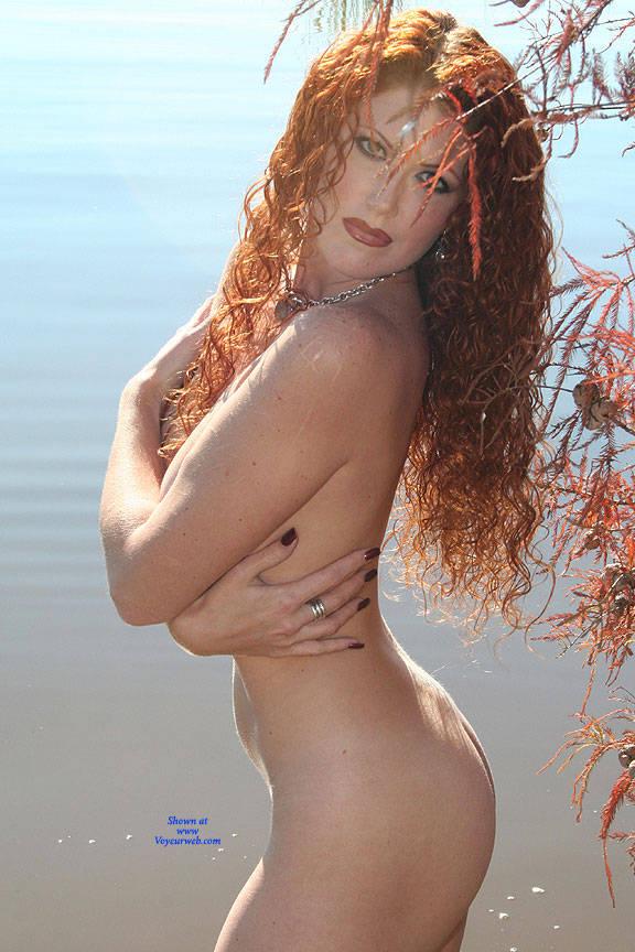 Pic #5 Milf Shoreline Sun - Nude Girls, Big Tits, Mature, Outdoors, Redhead, Amateur