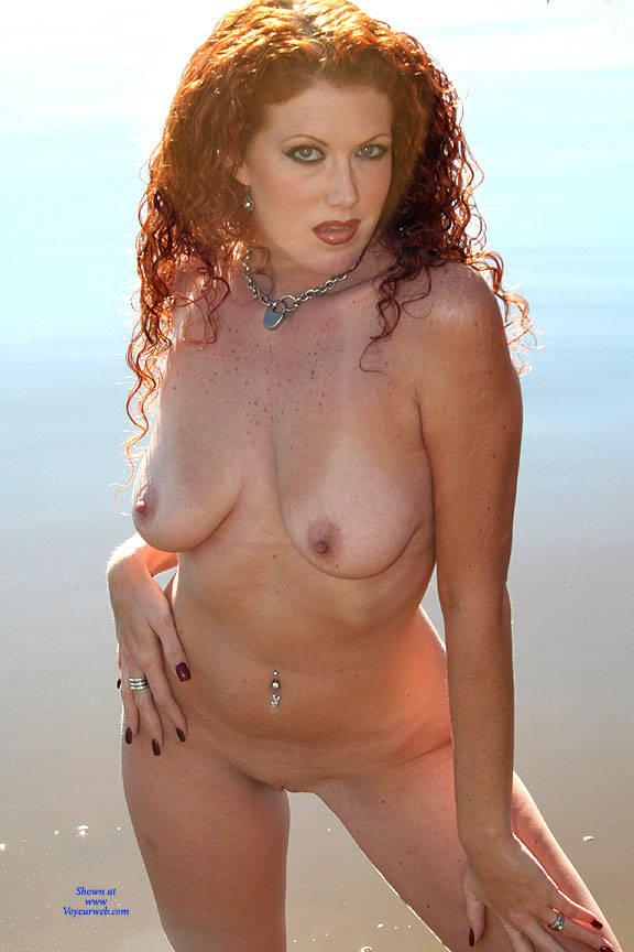 Pic #9 Milf Shoreline Sun - Nude Girls, Big Tits, Mature, Outdoors, Redhead, Amateur