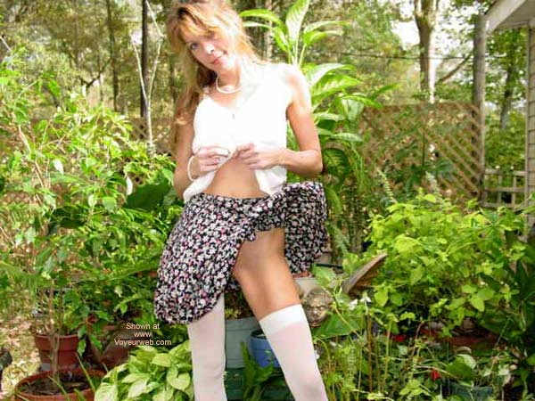 Pic #1 - Short Skirt On A Windy Day....