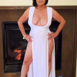 Falling Out Of Sexy White - Big Tits, Mature, Amateur, Dressed