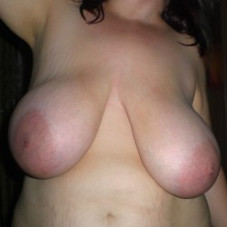 Extremely large tits of my wife - my love