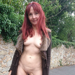 Happy Park - Public Exhibitionist, Flashing, Outdoors, Public Place, Redhead, Shaved, Amateur