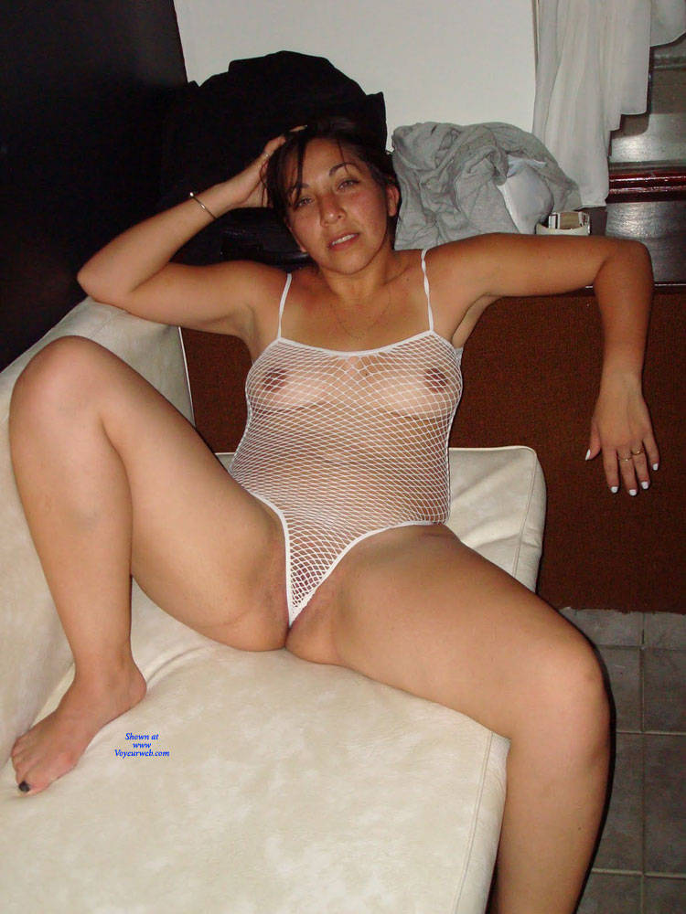 Pic #3 Net - Brunette, Lingerie, See Through, Amateur