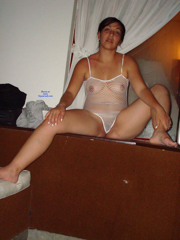 Pic #4 Net - Brunette, Lingerie, See Through, Amateur