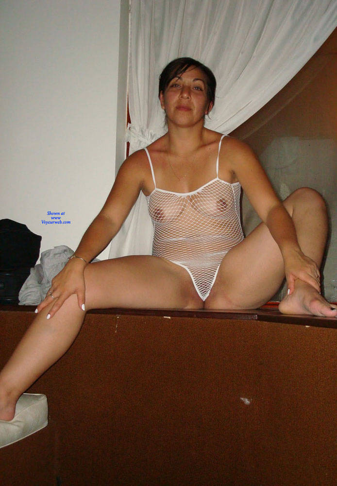 Pic #9 Net - Brunette, Lingerie, See Through, Amateur