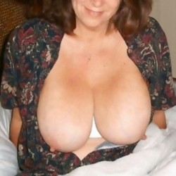 Extremely large tits of my wife - miley