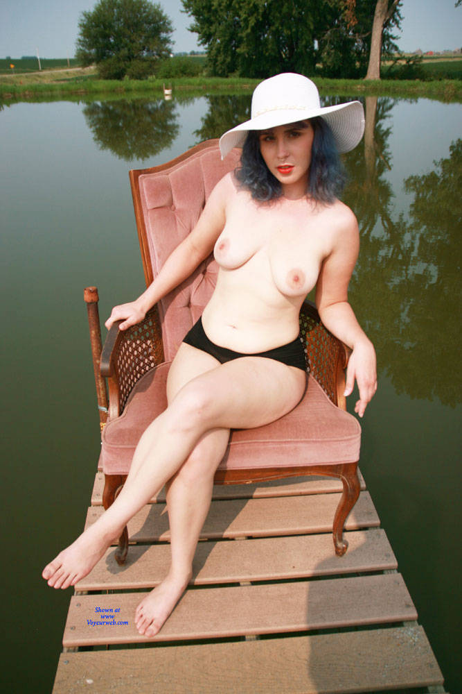 Pic #1 On The Dock - Nude Girls, Big Tits, Outdoors, Bush Or Hairy, Amateur, Tattoos