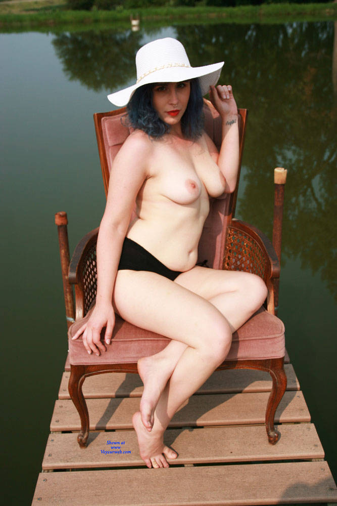 Pic #2 On The Dock - Nude Girls, Big Tits, Outdoors, Bush Or Hairy, Amateur, Tattoos
